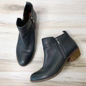 Lucky Brand Basel Black Booties